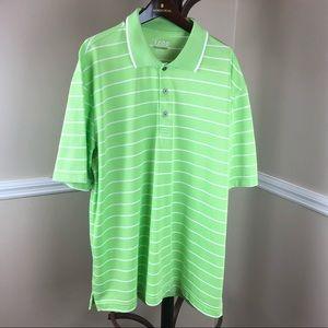 IZOD GOLF Lime Green 3 button Polo Size XL